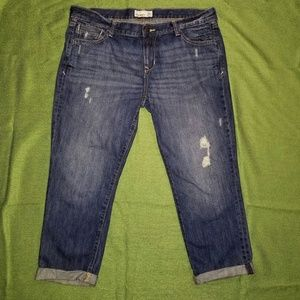 Old Navy Distressed Capri Jeans Capris Size 14